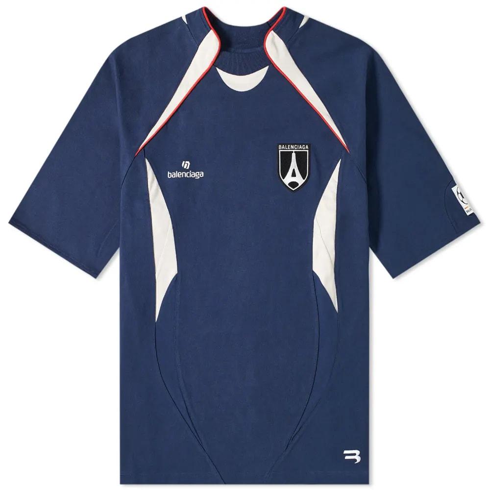 Balenciaga Jersey Logo Soccer Top