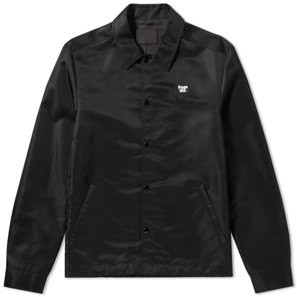 NY Post Black Nylon Patch Coach Jacket
