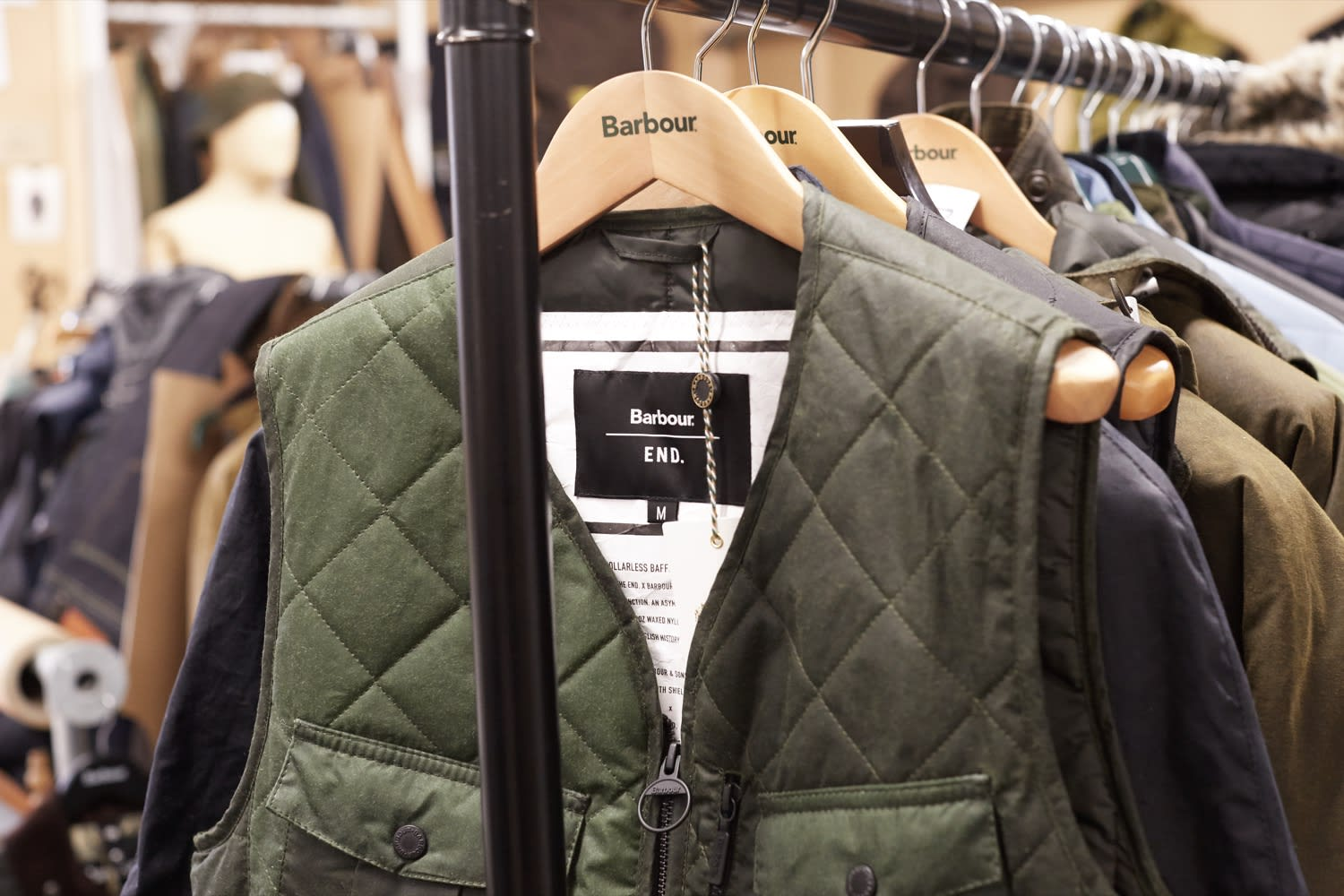 The END. x Barbour Re-Engineered Fishing Vest in Barbour's design studio