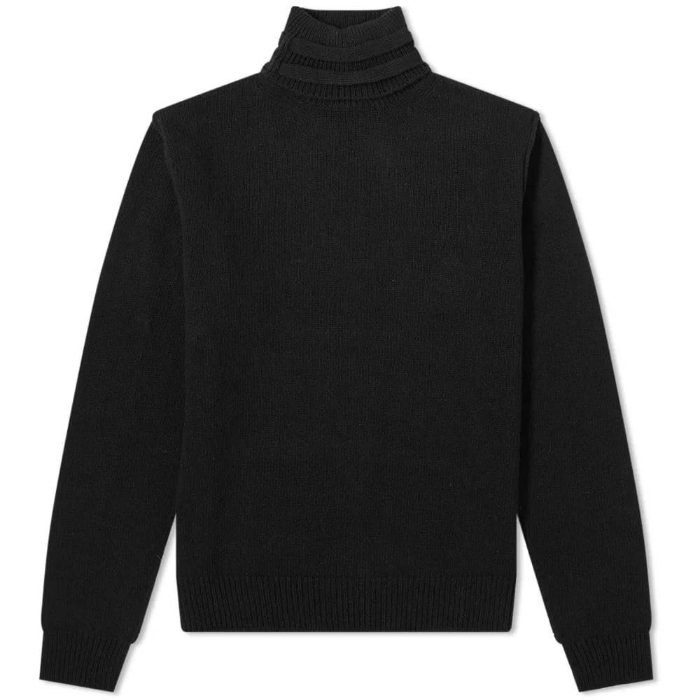 Raf Simons Double Strap Roll Neck Knit