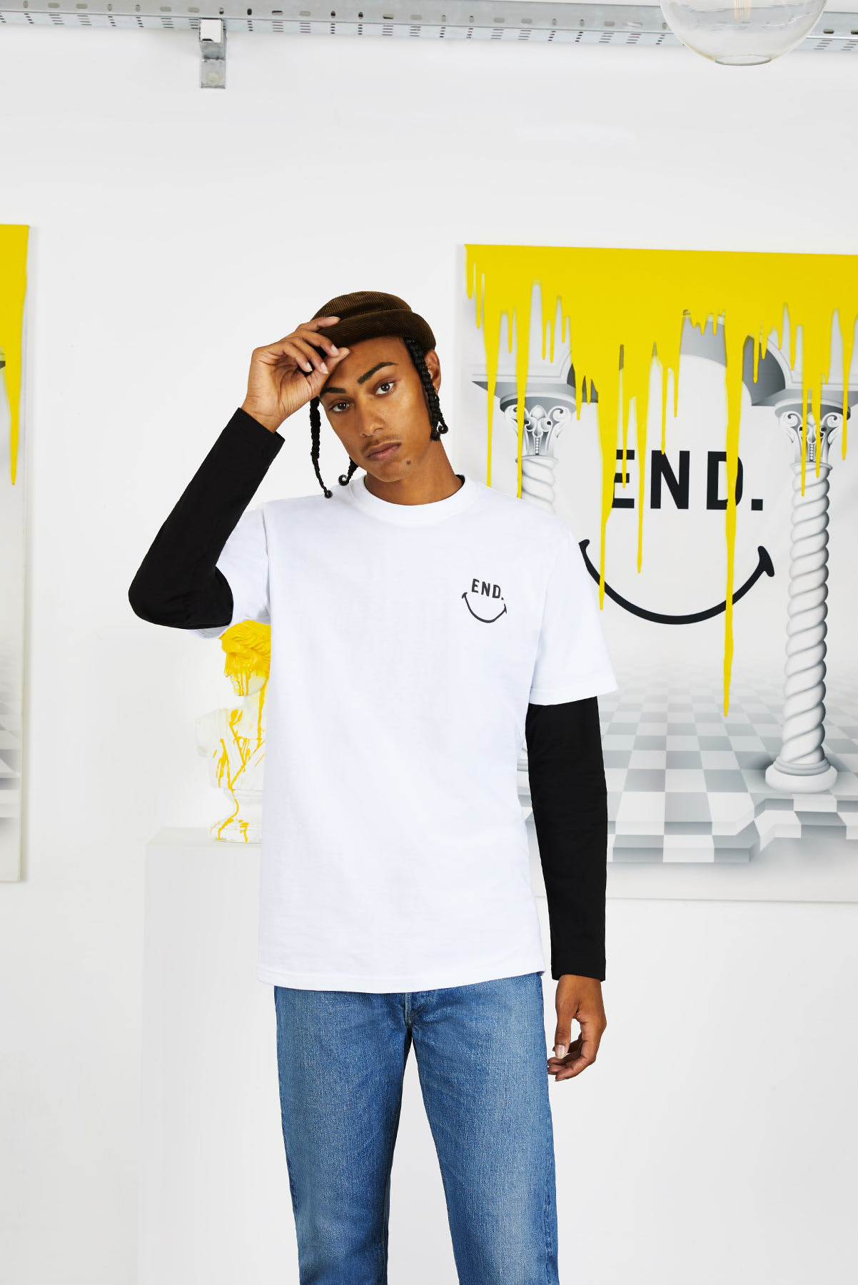 END. x Chinatown Market collaboration temple tee
