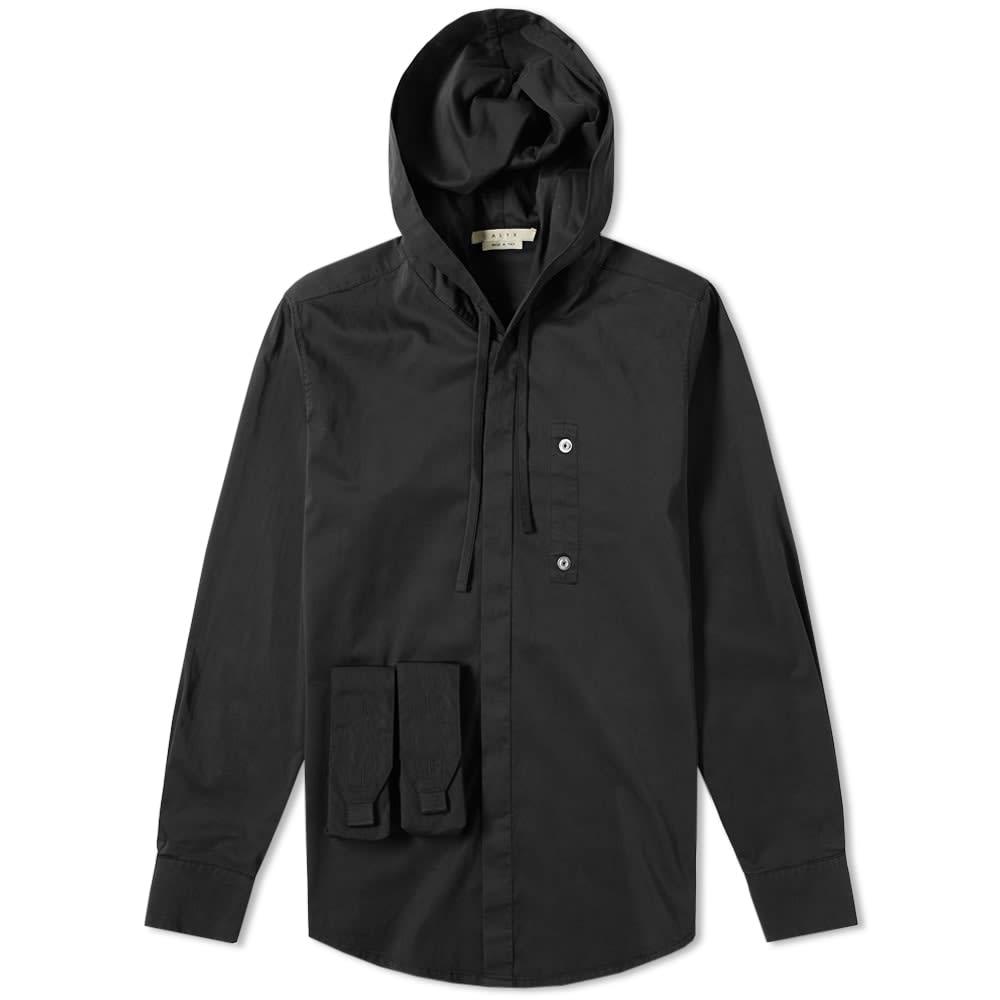 Hooded Button Up Shirt