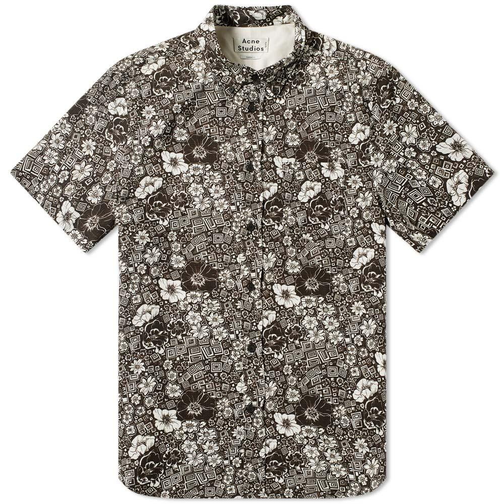 Acne Studios Isherwood Floral Short Sleeve Shirt