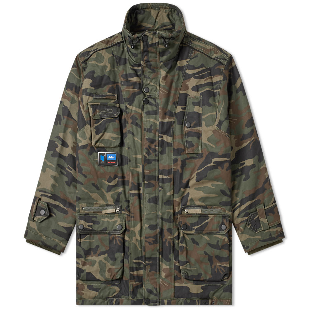 ADER error Oversized Camo Down Jacket