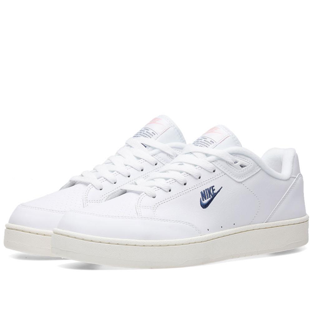Nike Grandstand II White, Navy \u0026 Sail
