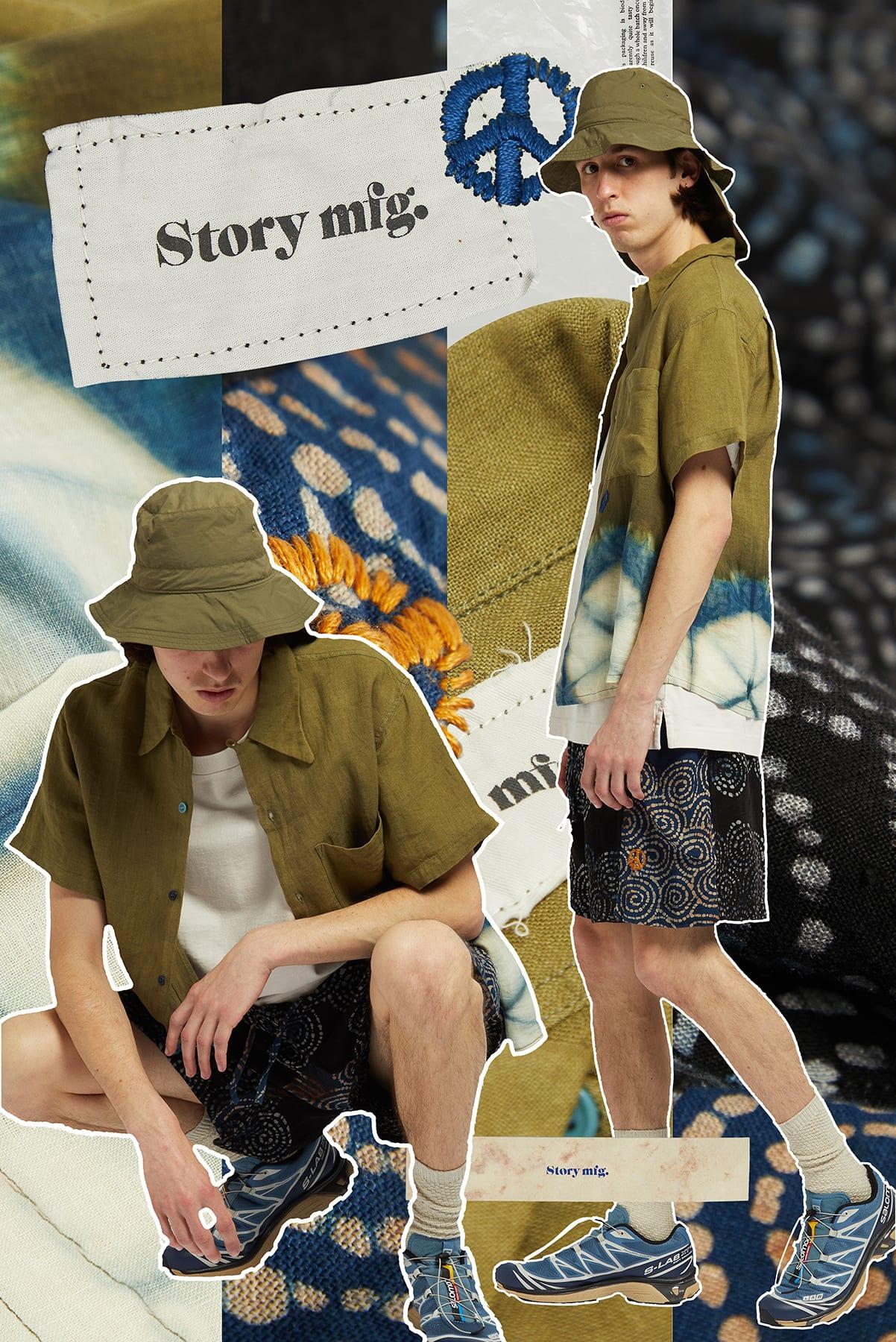 Curated 008 | Short-Stock - Model wears Story MFG Spiral Print Onda Short
