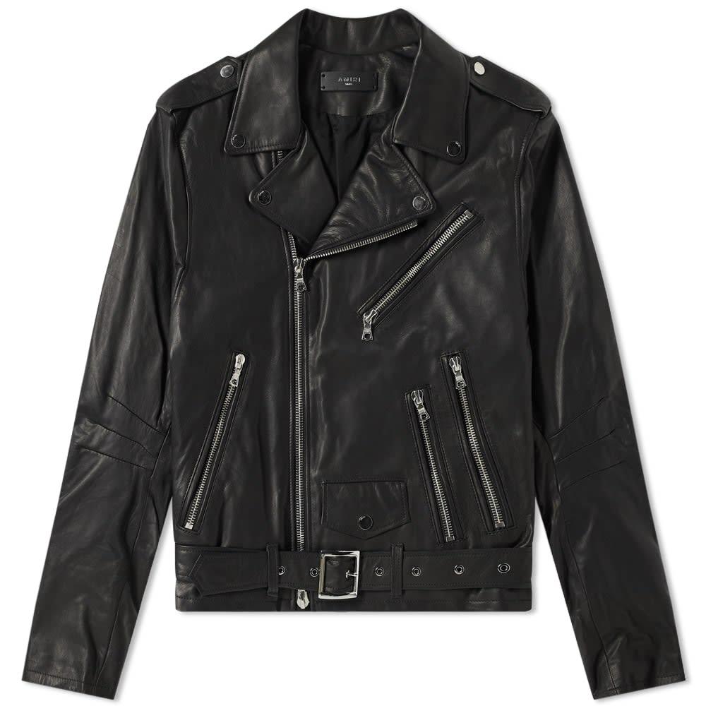 Amiri Lightweight Leather Biker Jacket