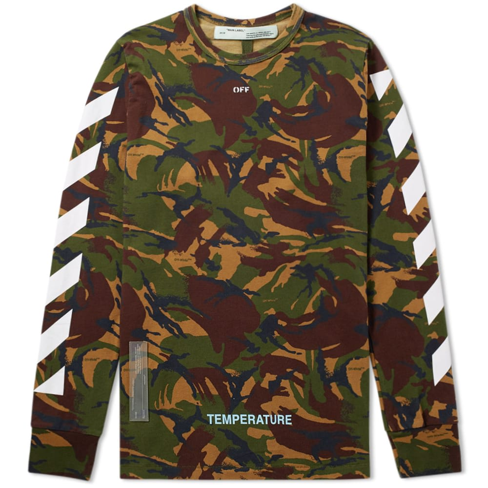 Long Sleeve Diagonals Camo Tee