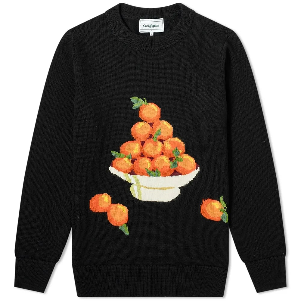 Casablanca Orange Pyramid Crew Knit