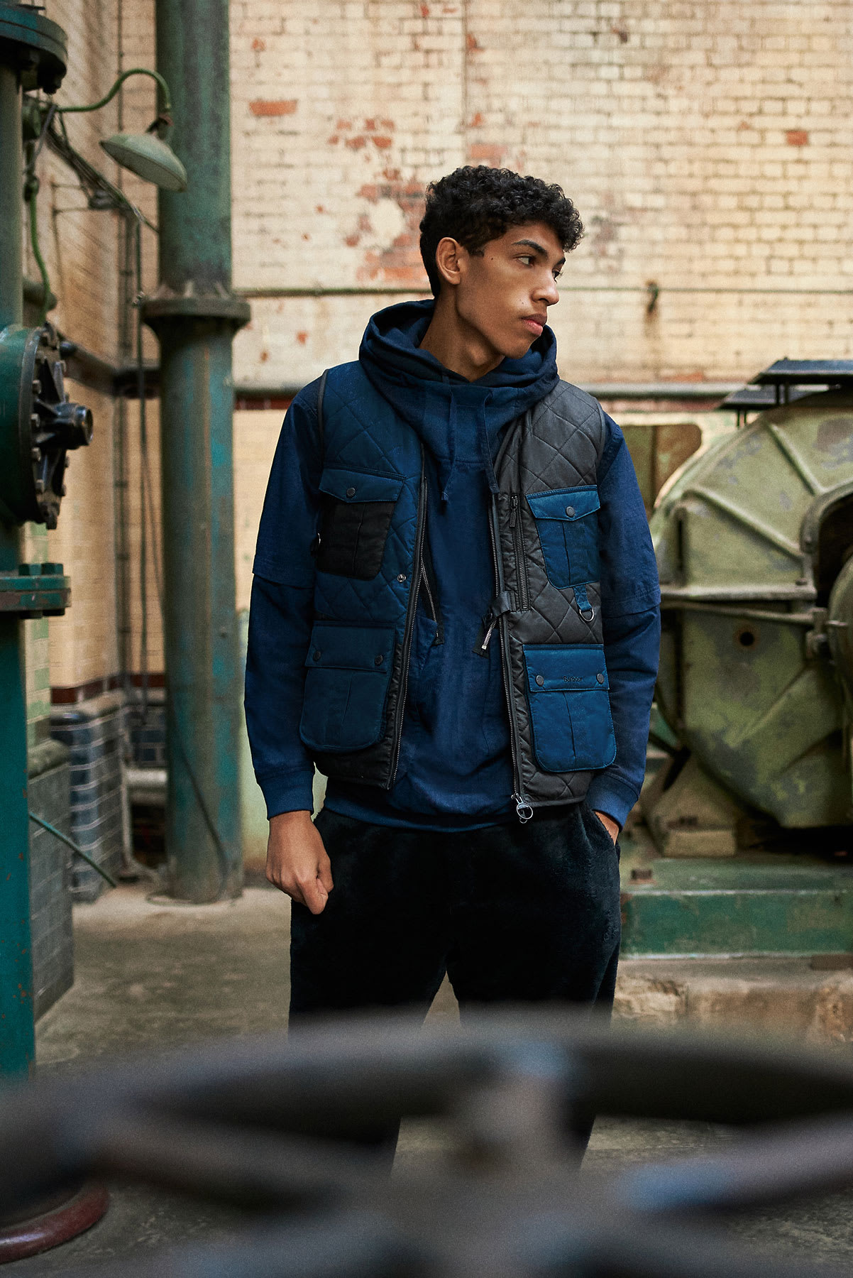 END. X BARBOUR Re-Engineered Fishing Vest - MGI0071-NY