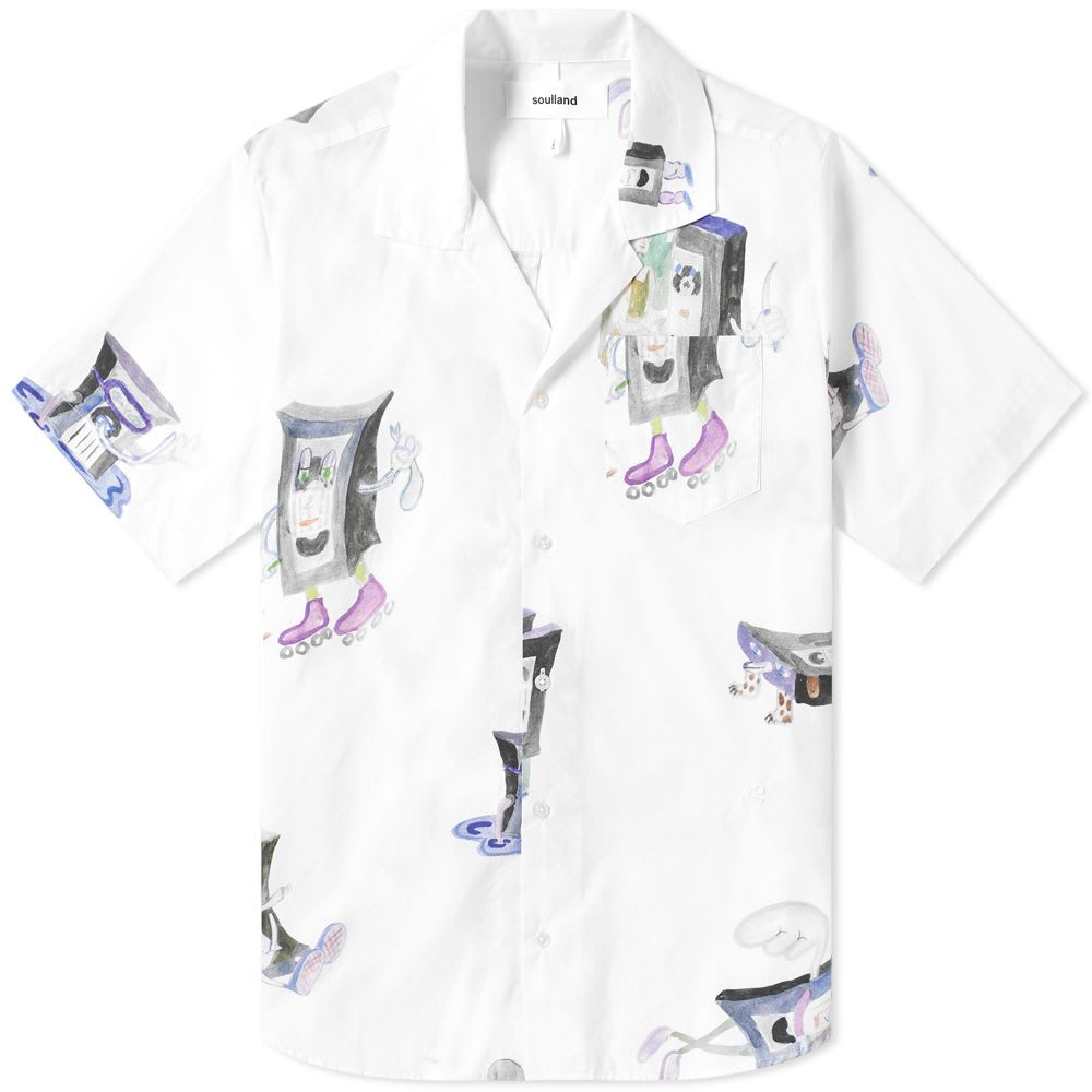 Short Sleeve VHS Print Vacation Shirt