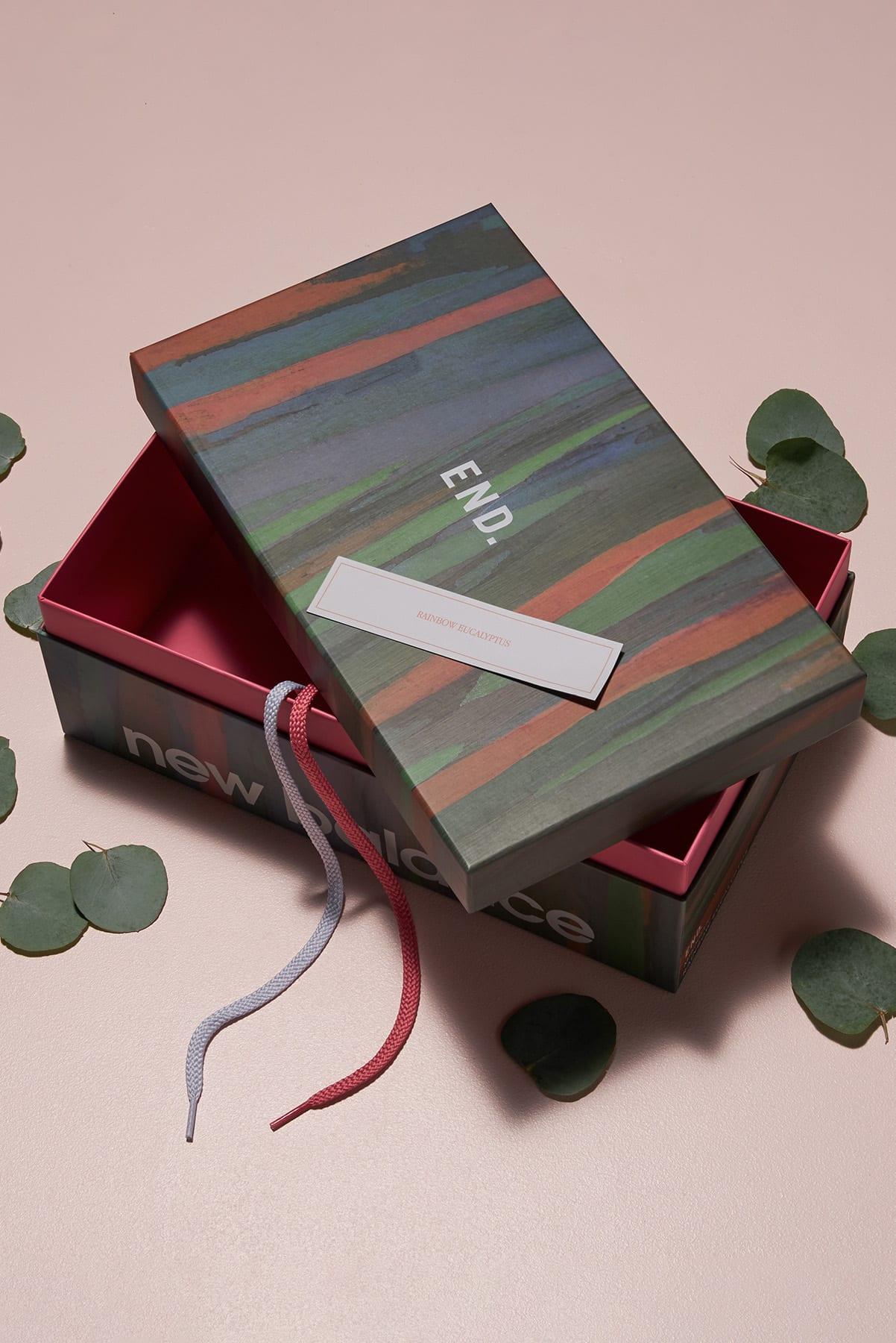 "END. x New Balance ""Rainbow Eucalyptus"" lookbook"
