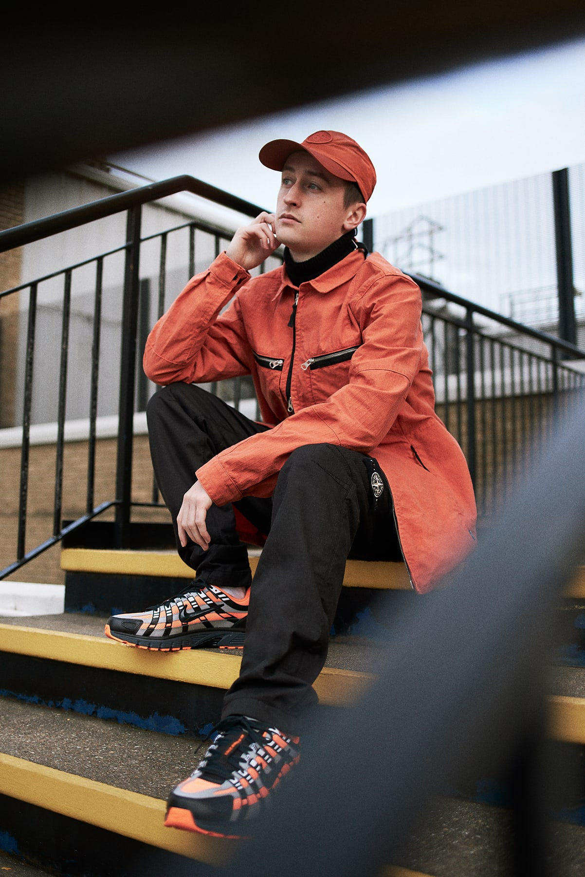 Jules wearing Stone Island for END.'s interview with Para Fiction