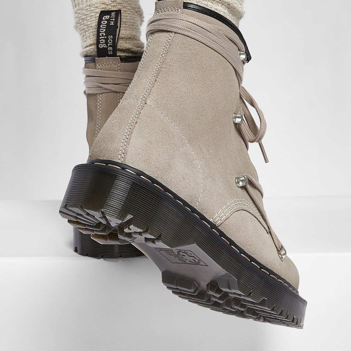 Rick Owens x Dr. Martens Suede Lace Up Boot - DM21-S6807-3696-SN