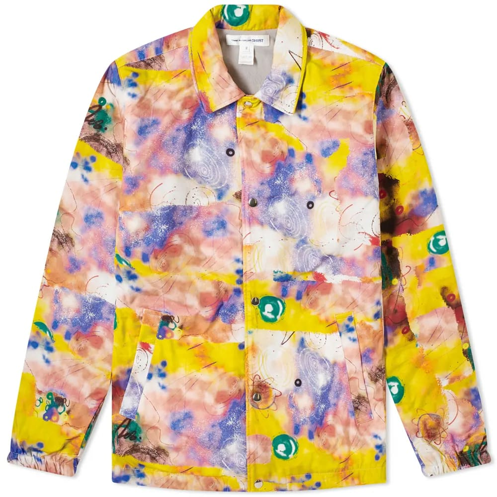 Curated 004 | Artists-in-Residence - COMME DES GARCONS SHIRT x FUTURA Print A Coach Jacket