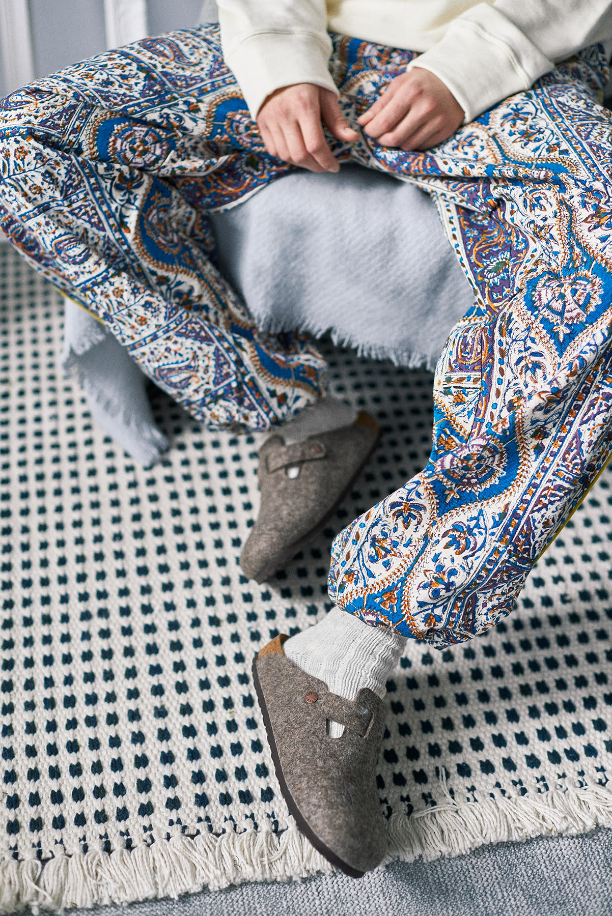 Home Body| END. SS20 Editorial .02 model wears Paria Farzaneh and Birkenstock