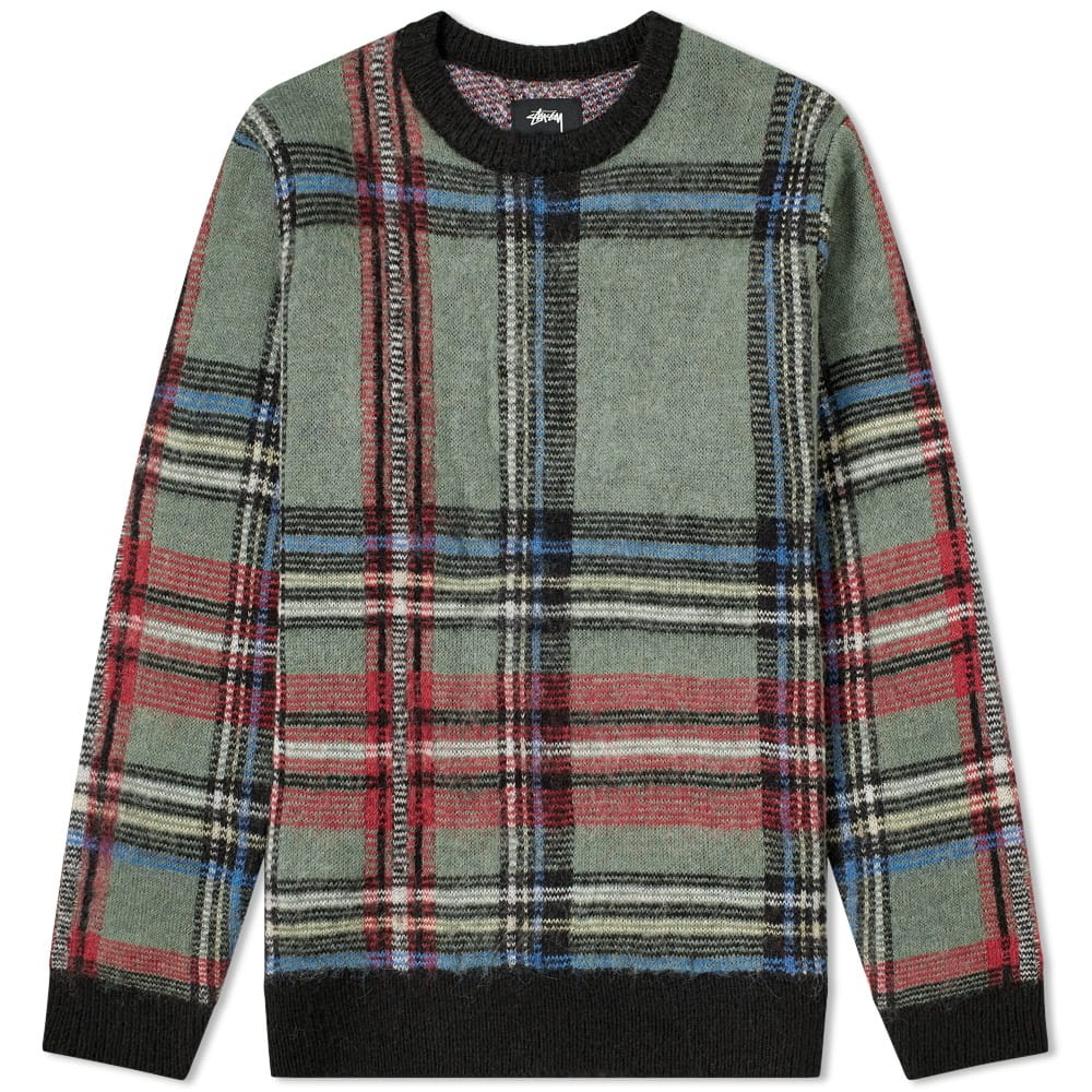 Stussy Plaid Mohair Sweat