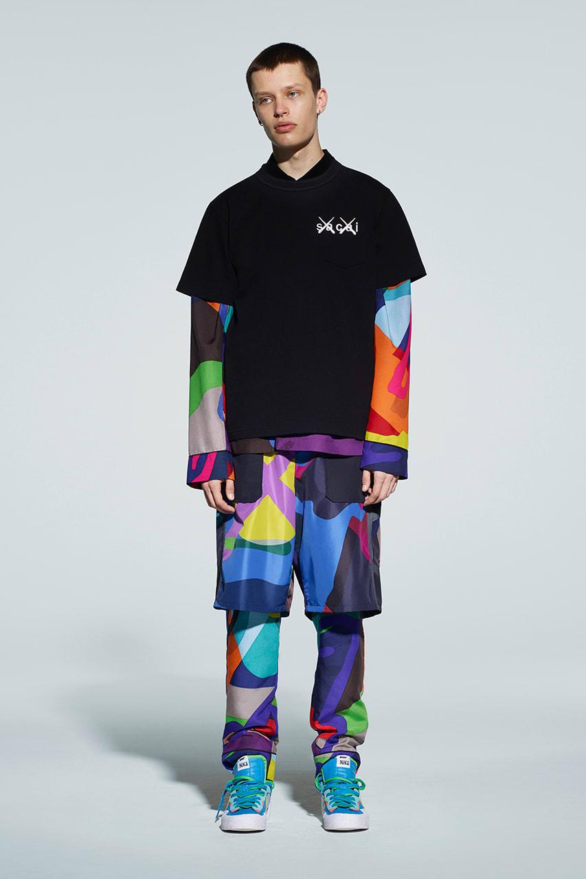 "Sacai x KAWS ""Wearable Art"" Look Book"