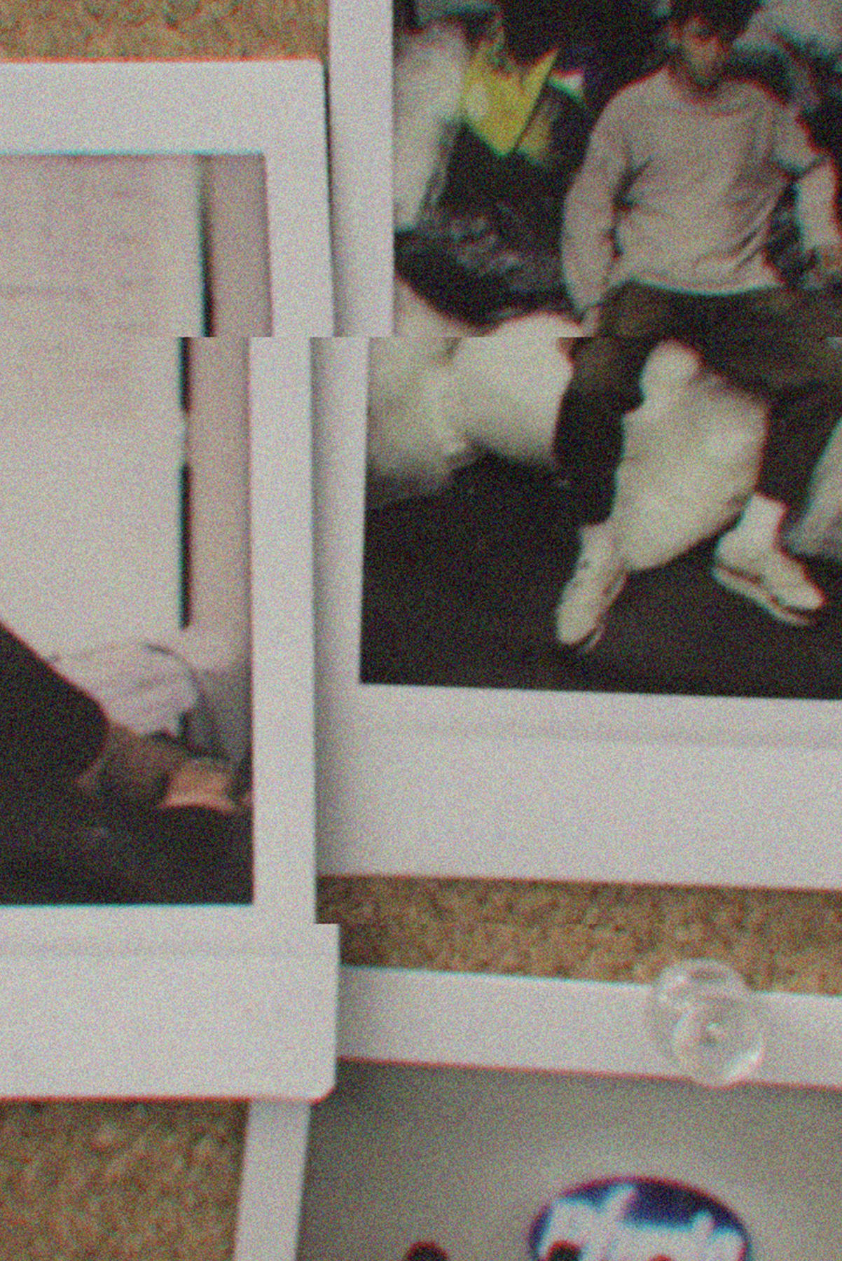 Polaroid images in the Rhude studio