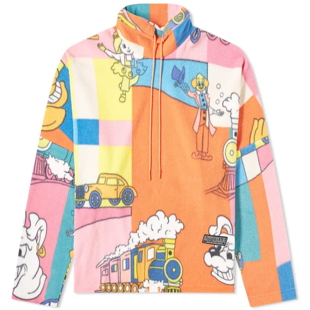 Curated 001 | Escapism - Martine Rose Patchwork Vintage Cartoon Popover Fleece