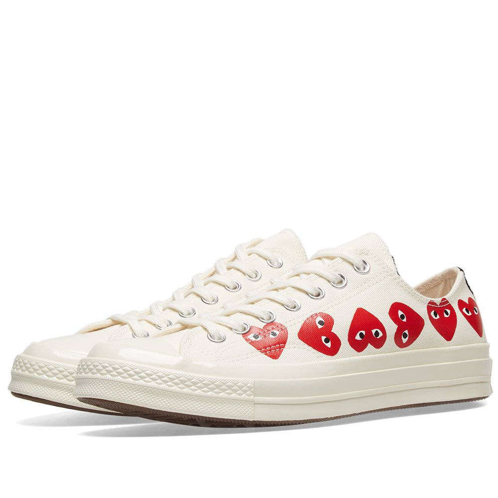 CDG PLAY x Converse Chuck Taylor Multi-Heart 1970s Low