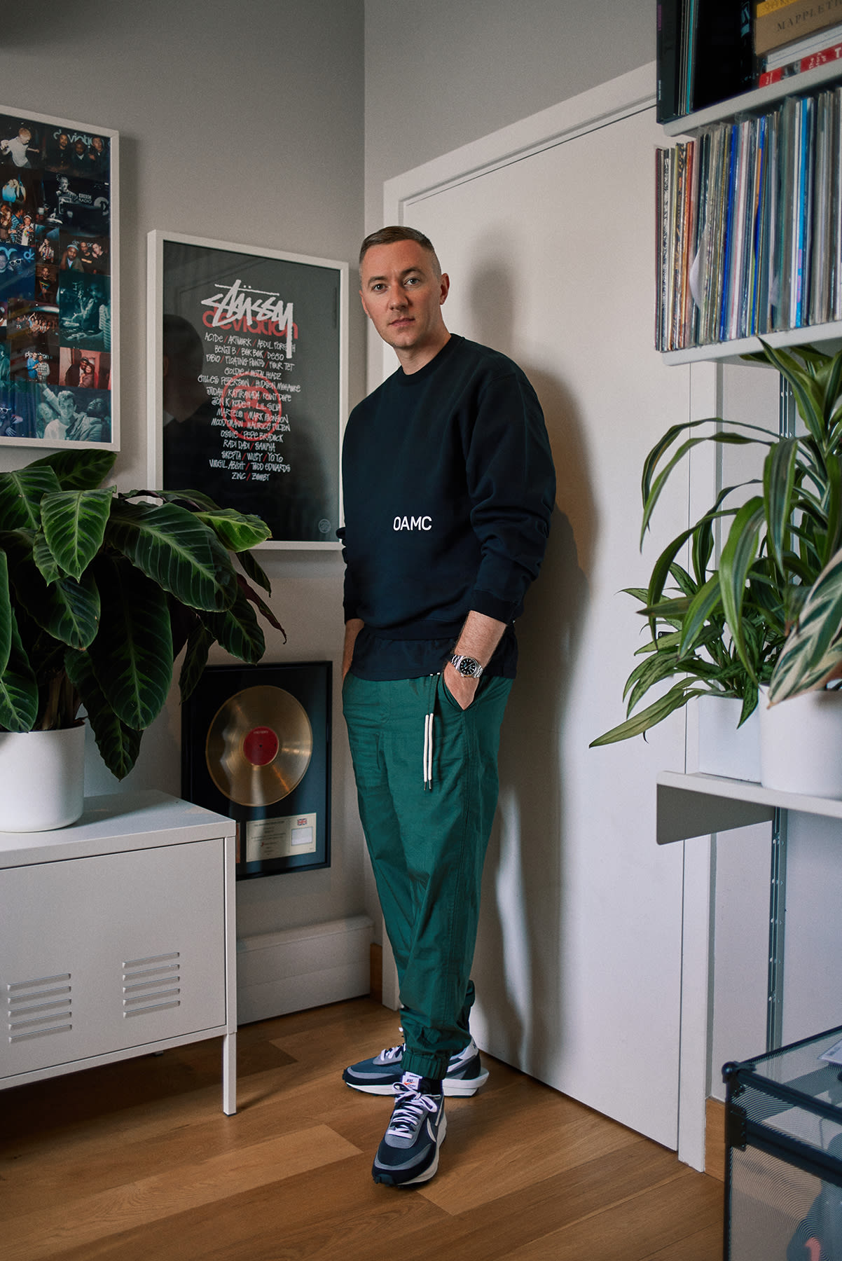 Benji B wearing OAMC, 1017 ALYX 9SM and Craig Green in his London studio for END.