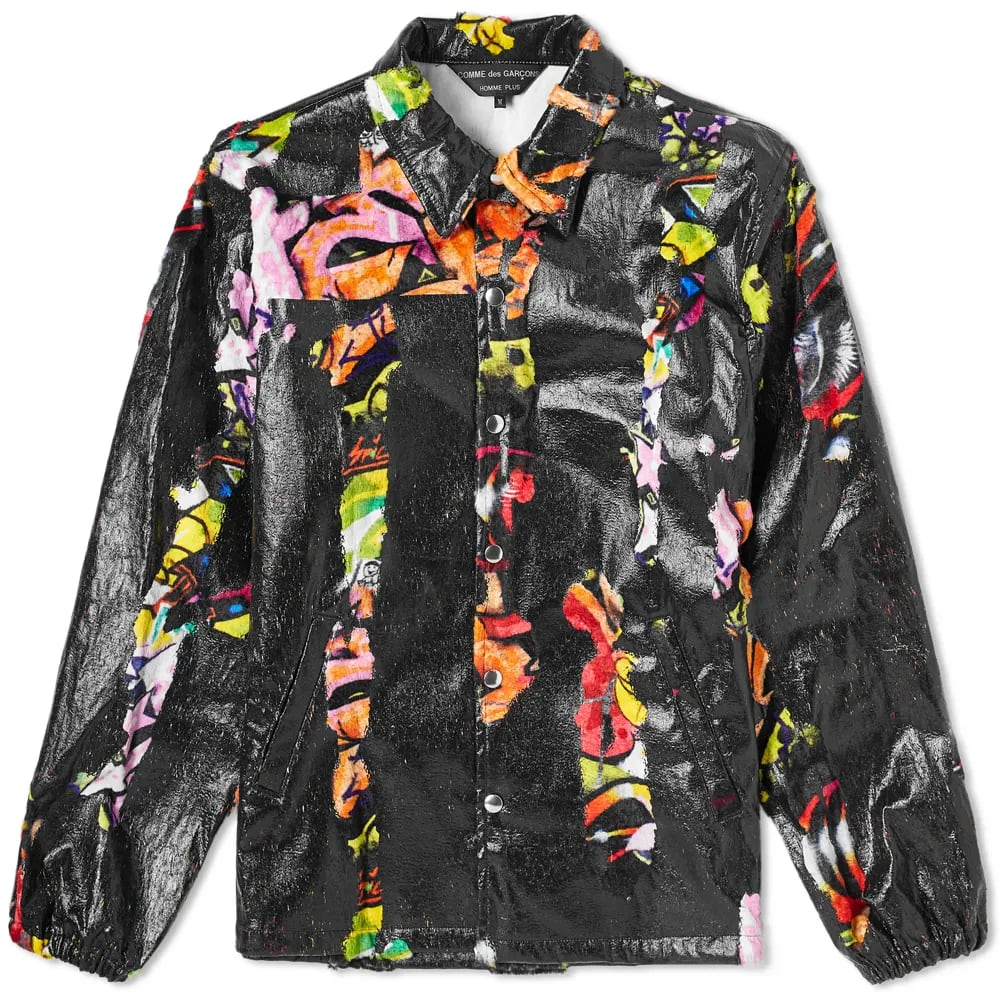 Curated 001 | Escapism - Comme des Garcons Homme Plus Multi Print Collection Logo Coach Jacket