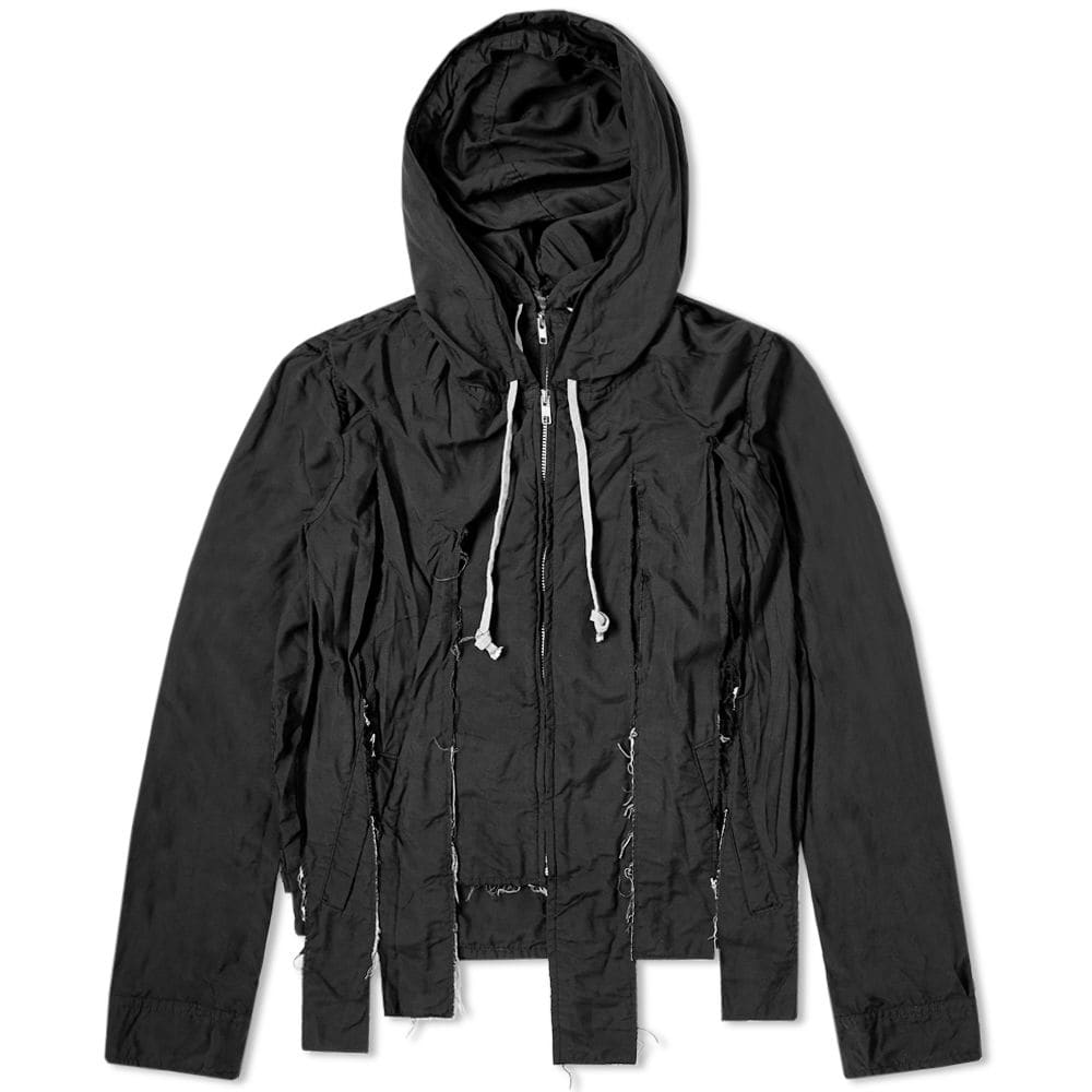 Comme des Garcons Homme Plus Garment Treated Cut Hooded Jacket