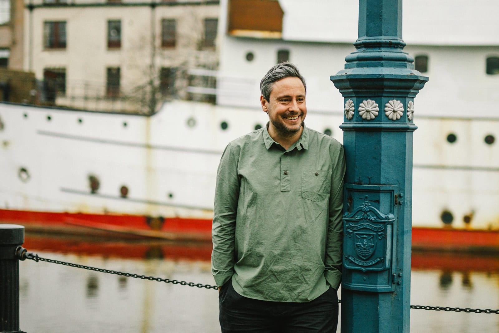 Kestin Hare studio visit in Leith for END.