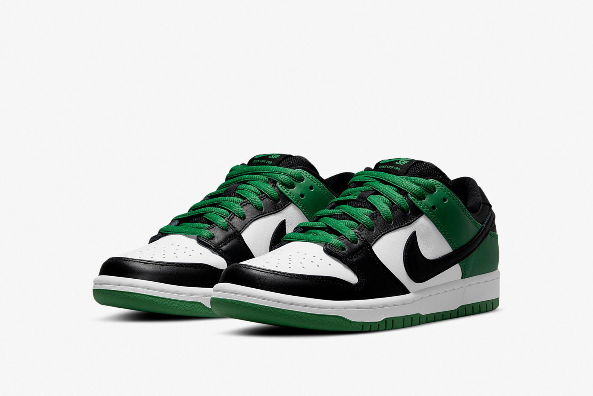"Nike SB Dunk Low Pro ""Classic Green"" - BQ6817-302"