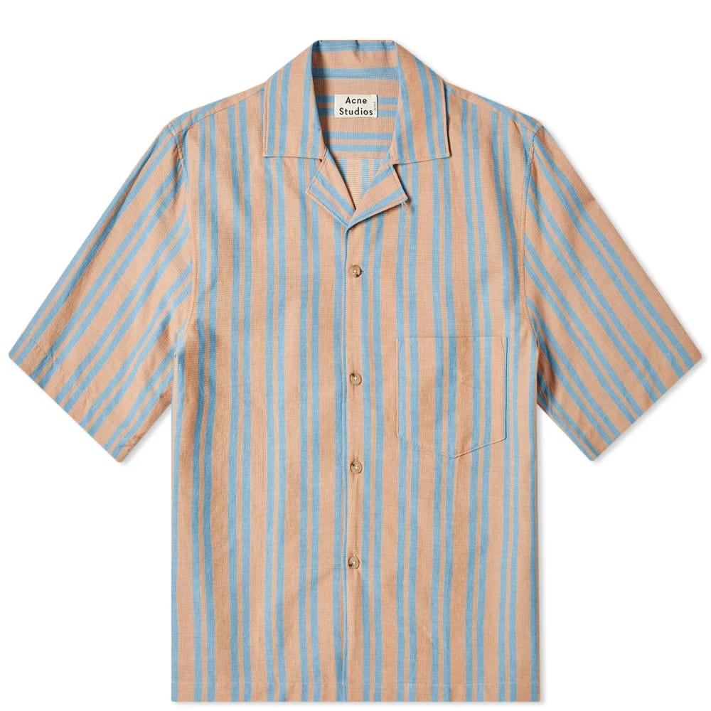 Acne Studios Simon Stripe Tex Vacation Shirt