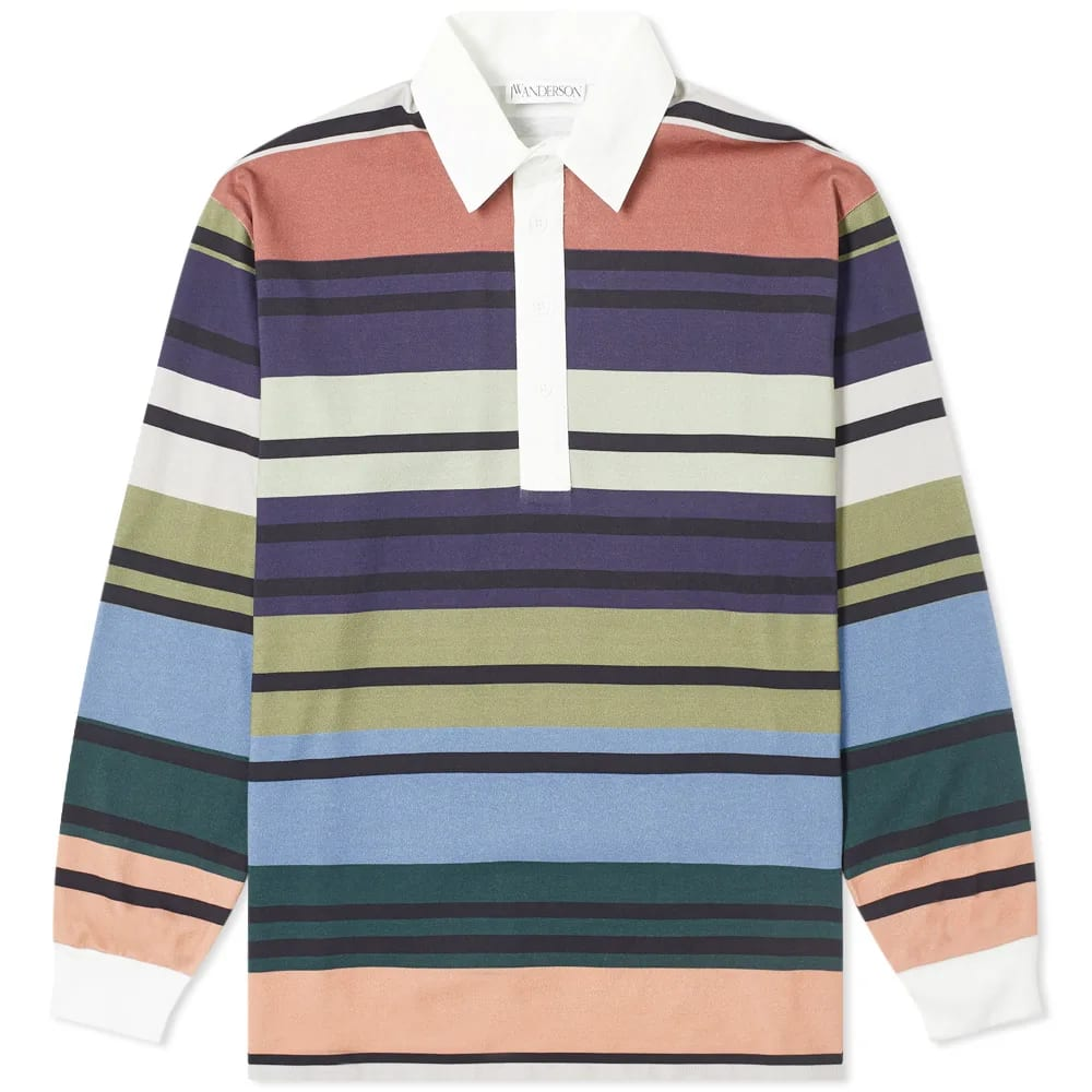 JW Anderson Striped Rugby Shirt