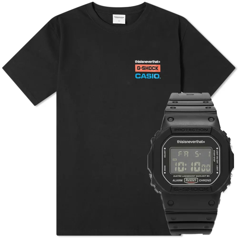 thisisneverthat x G-Shock 5600 Watch and Logo Tee