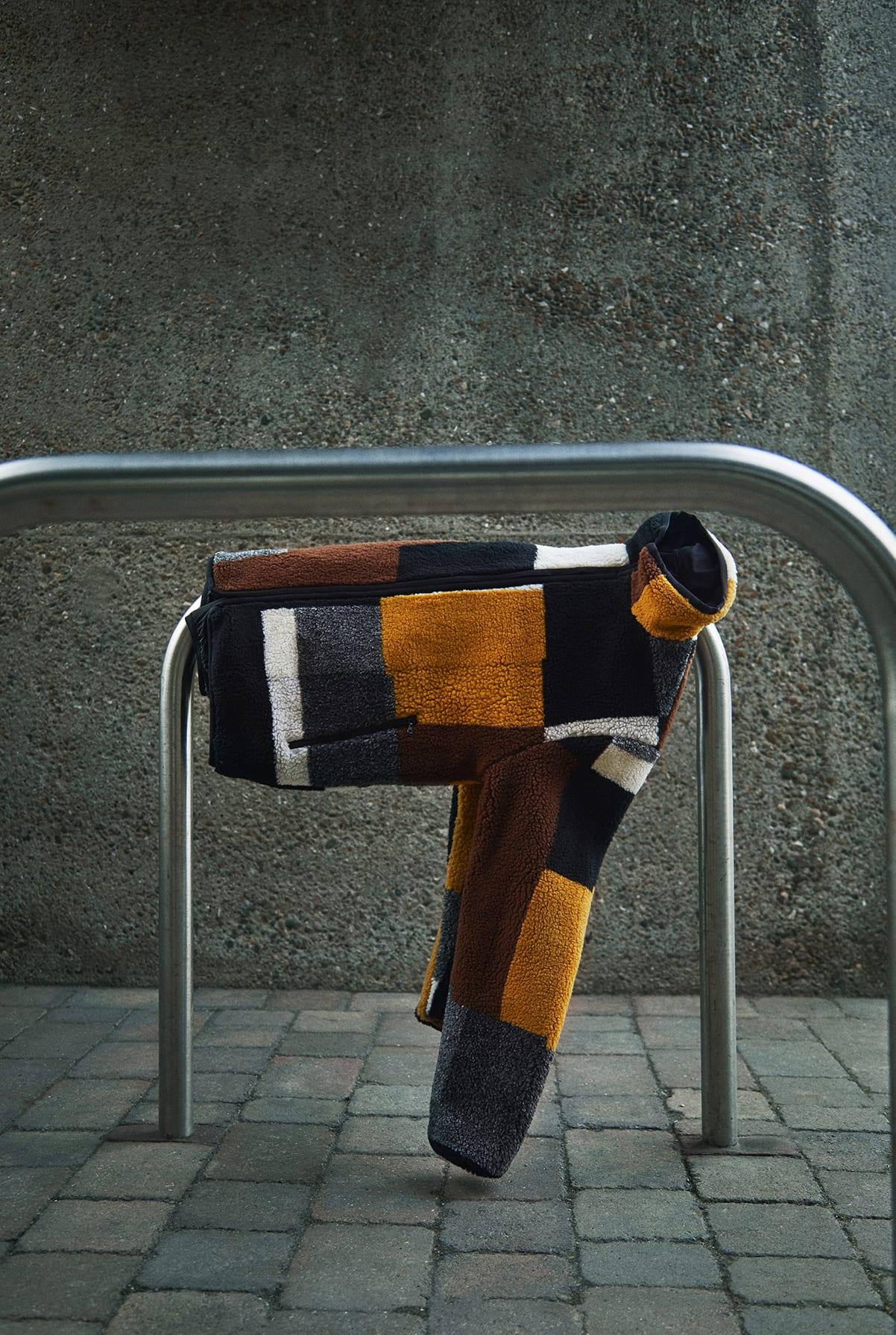 END. Required Item: Sherpa Fleece SS20: Model Wears John Elliott Nashville Jacquard Reversible Fleece