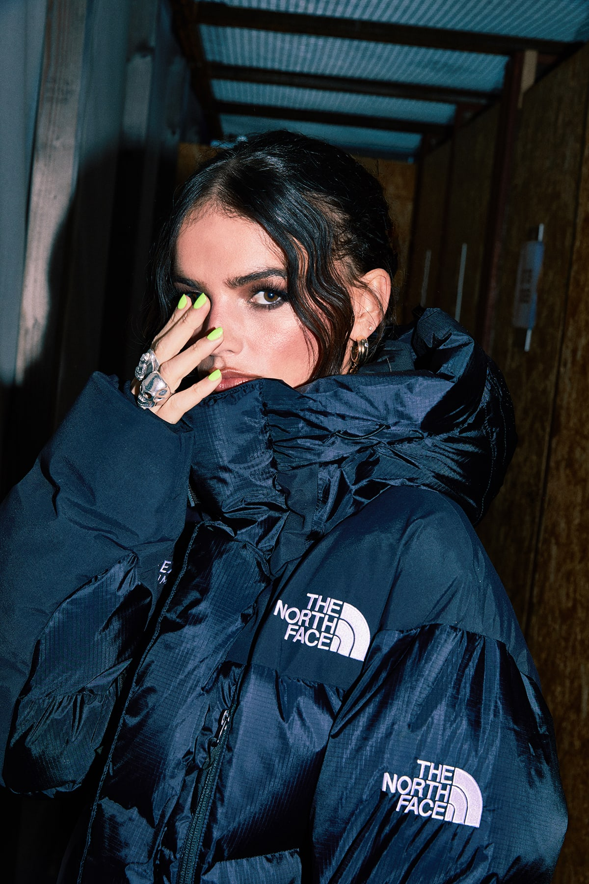 La La wears THE NORTH FACE Seven Summits Gore-Tex Himalayan Parka for END.