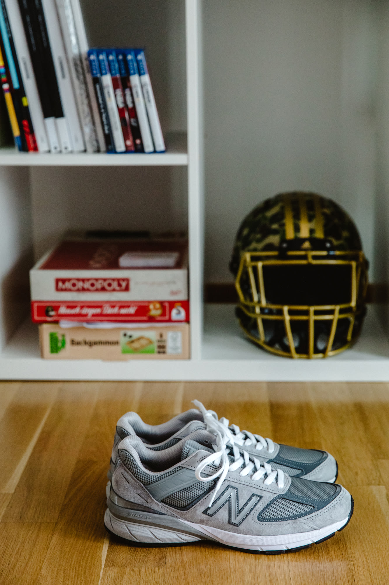 Flight Case Sneakers: Fabian Gorsler at Home in Berlin, image features New Balance 990v5