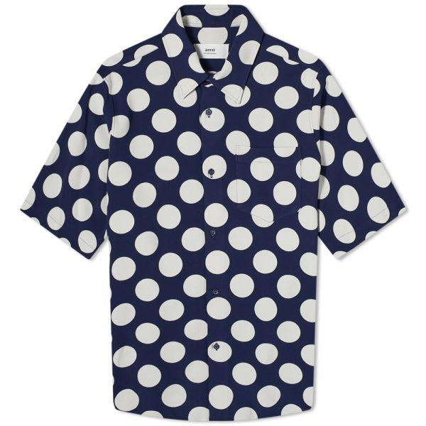 AMI Short Sleeve Polka Dot Shirt