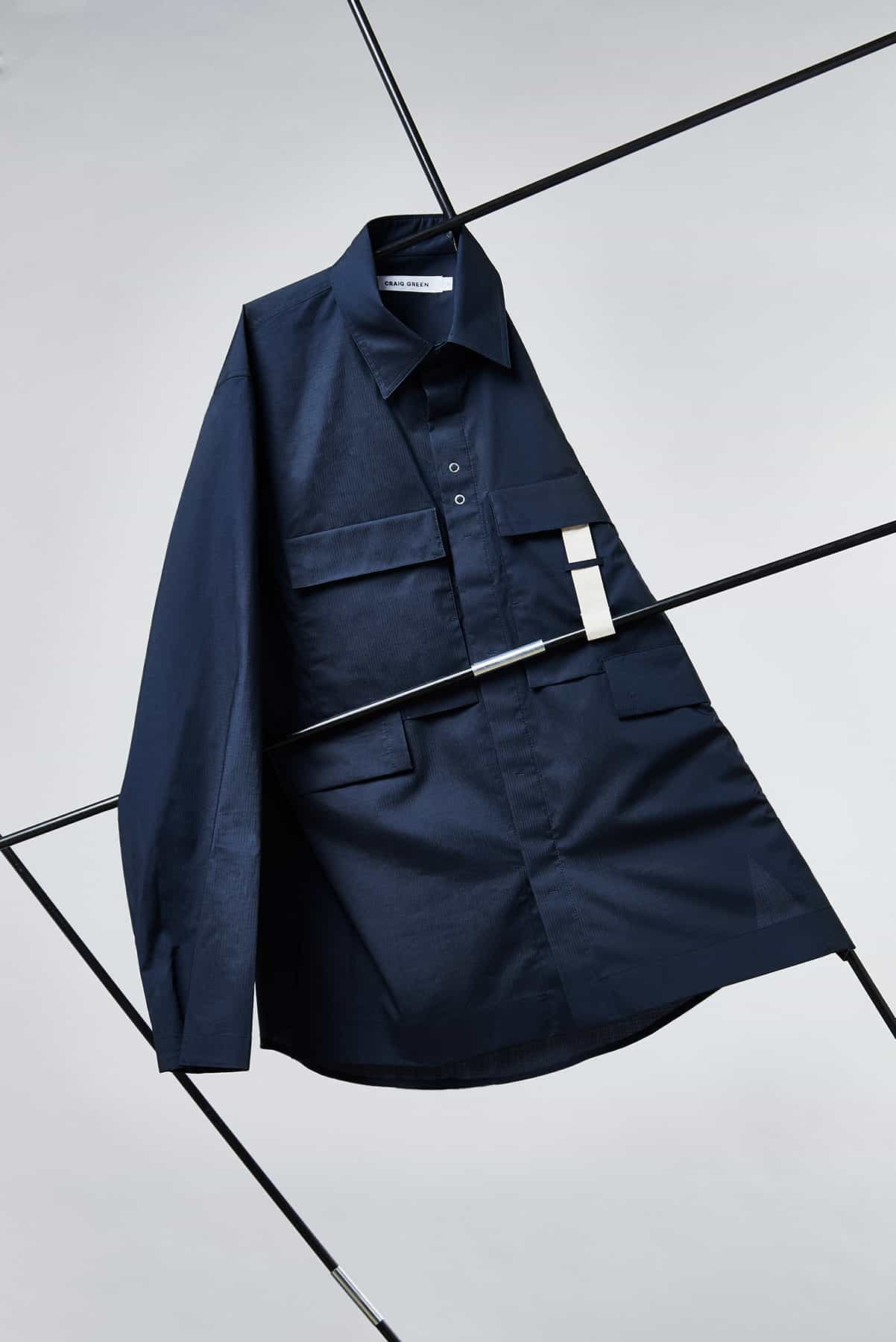 END. Craig Green Core AW19 - RIpstop Shirt in Navy