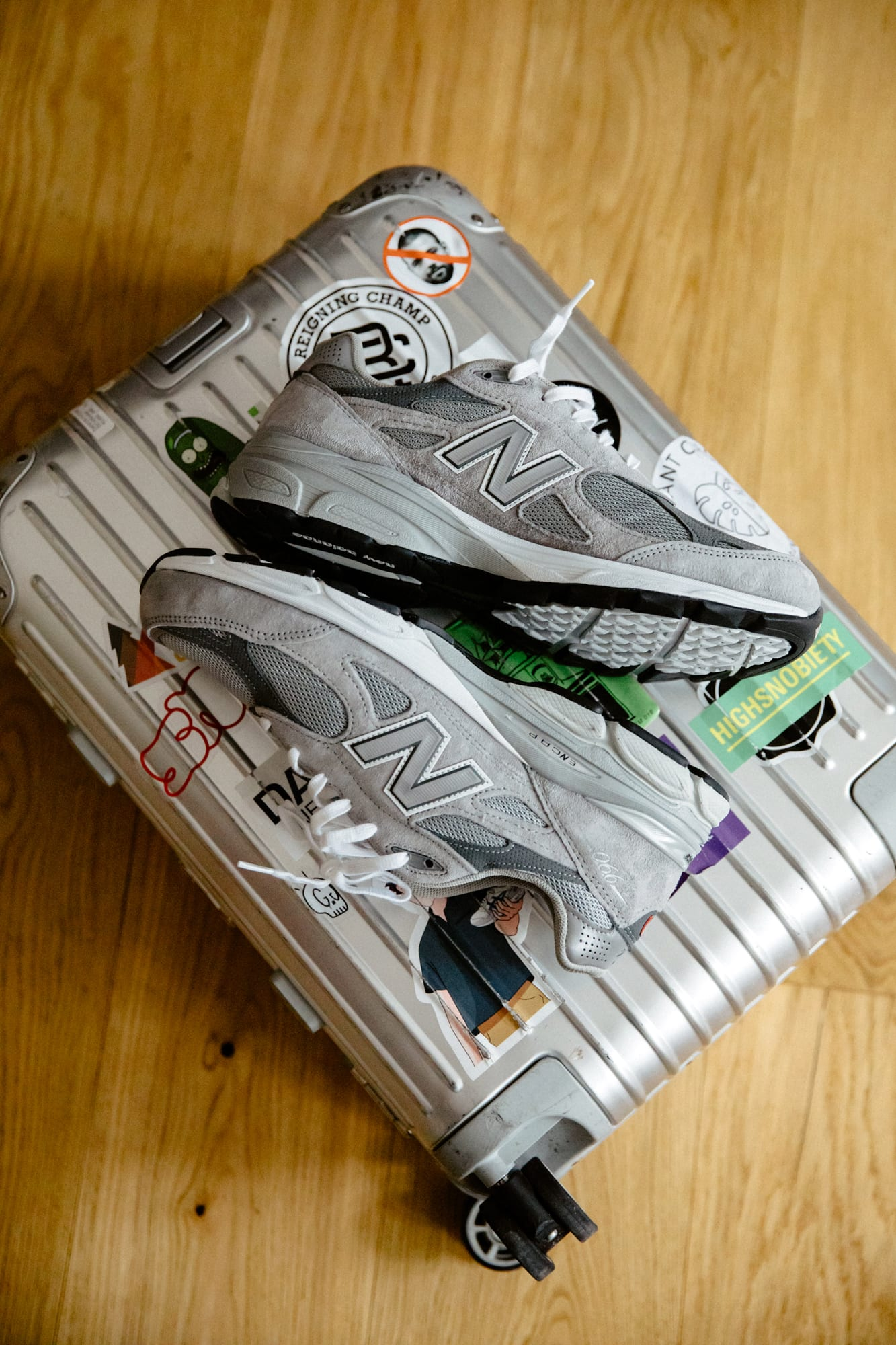 New Balance 990v3 - Flight Case Sneakers: Chris Danforth