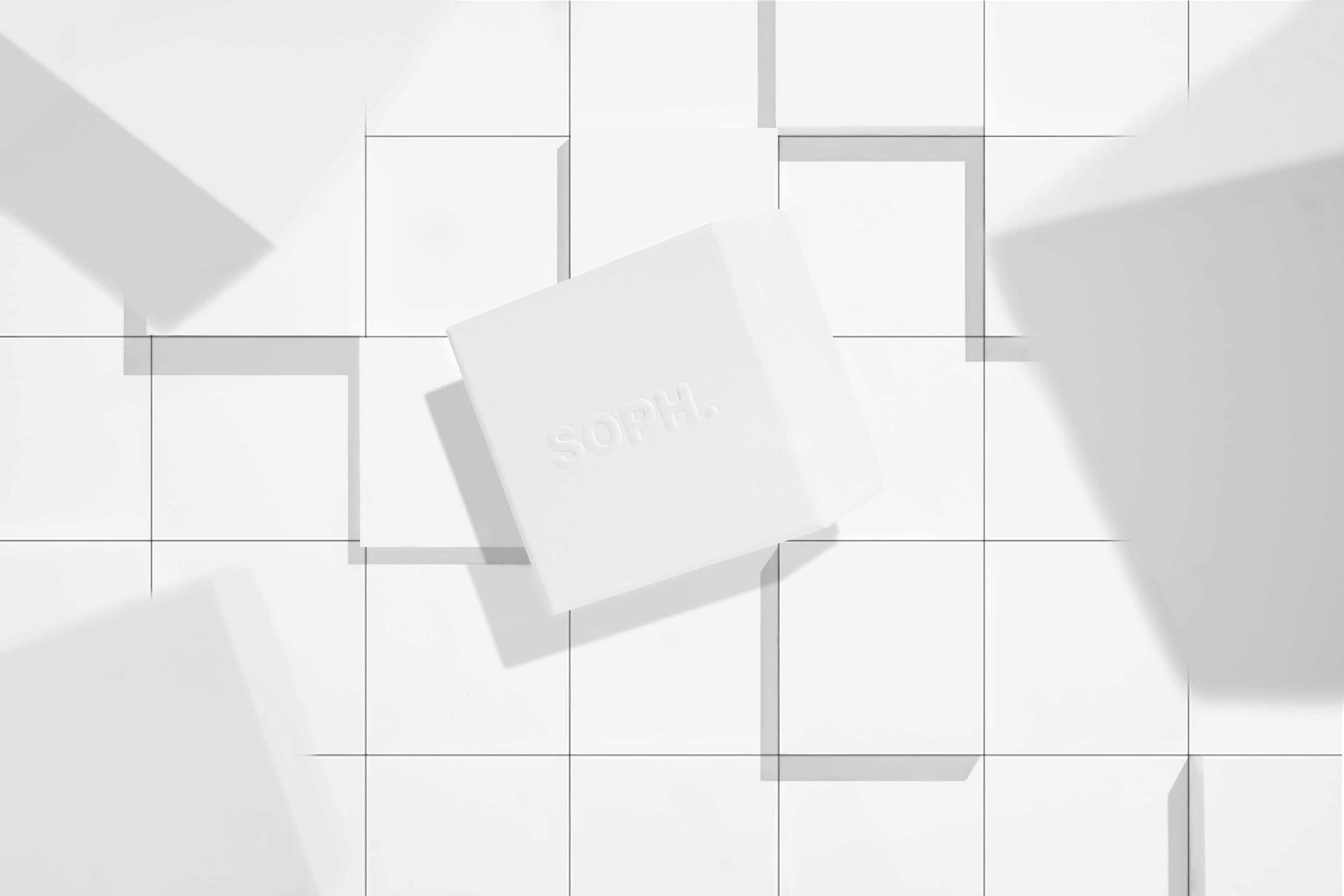 Discreet embossed SOPH. branding on the END. x SOPH. x Timex MK1 watch box.