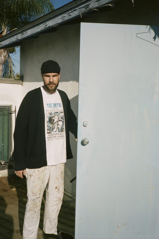 Alex James shot at PLEASURES studio in LA by Jordan Vickors for END.
