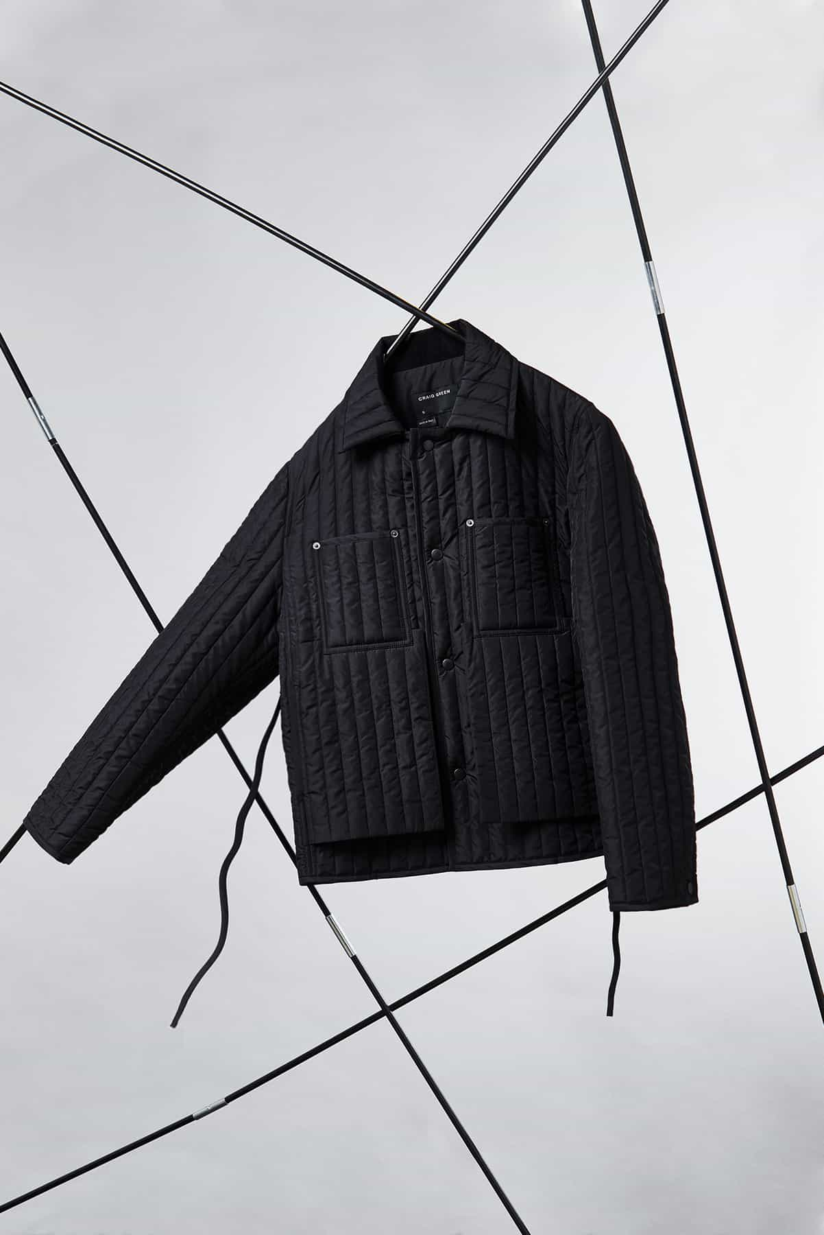END. Craig Green Core AW19 - Black Quilted Worker Jacket