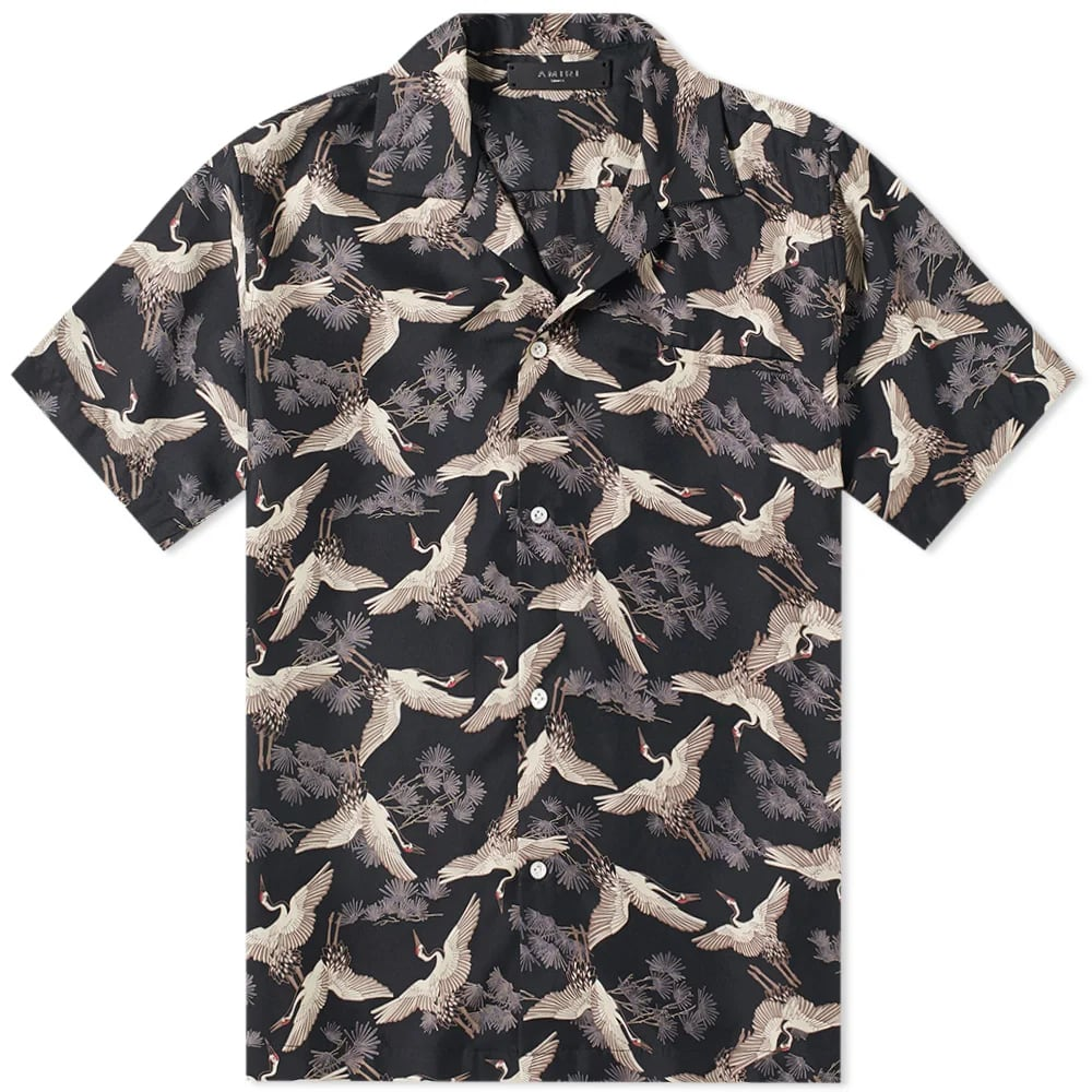 AMIRI Short Sleeve Crane Shirt