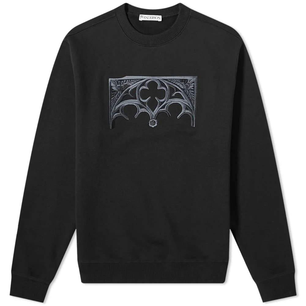 JW Anderson Gate Embroidered Crew Sweat