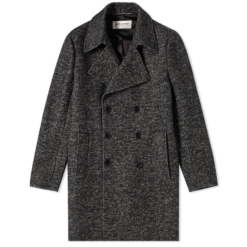 Jacquard Double Breated Pea Coat