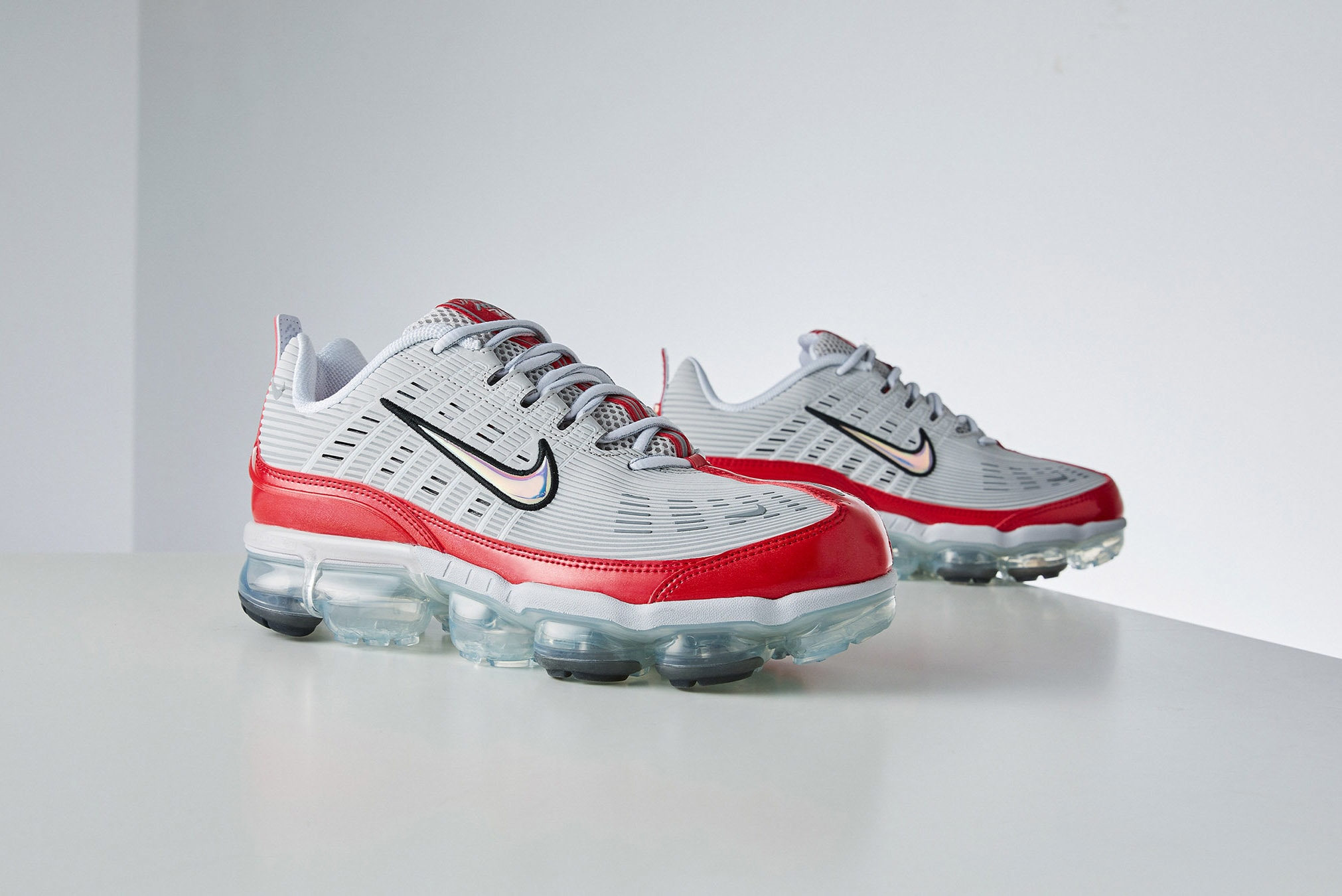 Nike Air Vapormax 360 Grey, White & Red