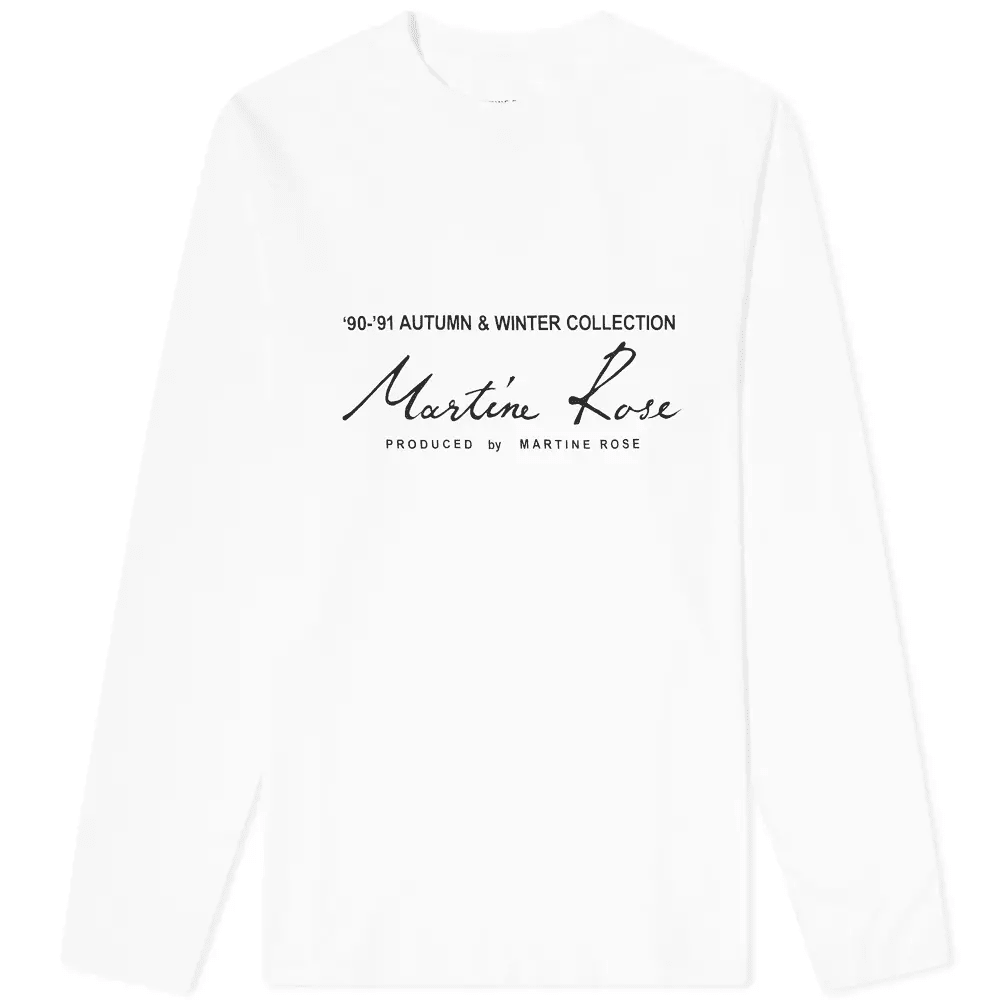 Curated 003 | Black Owned - Martine Rose Long Sleeve Logo Print Tee
