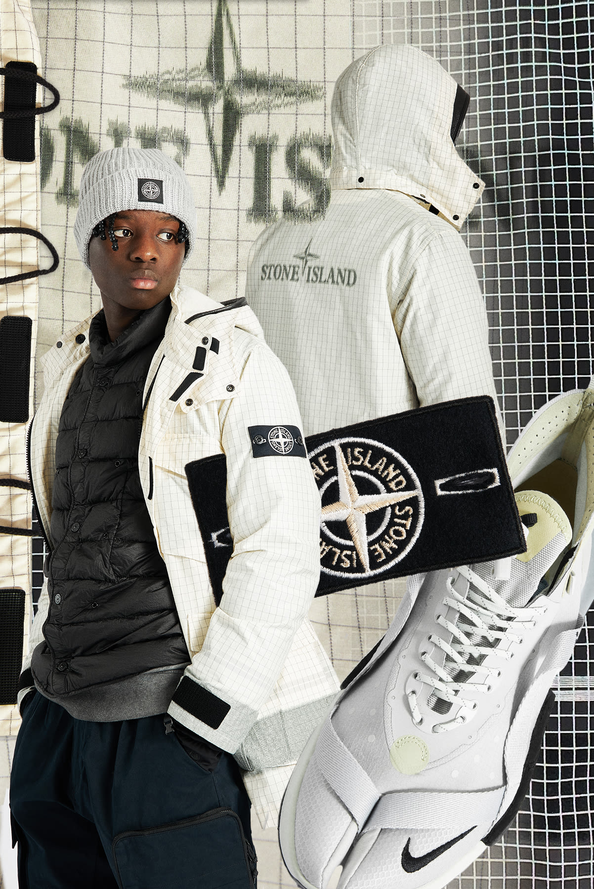 Curated 005 | Trek - Stone Island Reflective Jacket and Gilet Down Parka