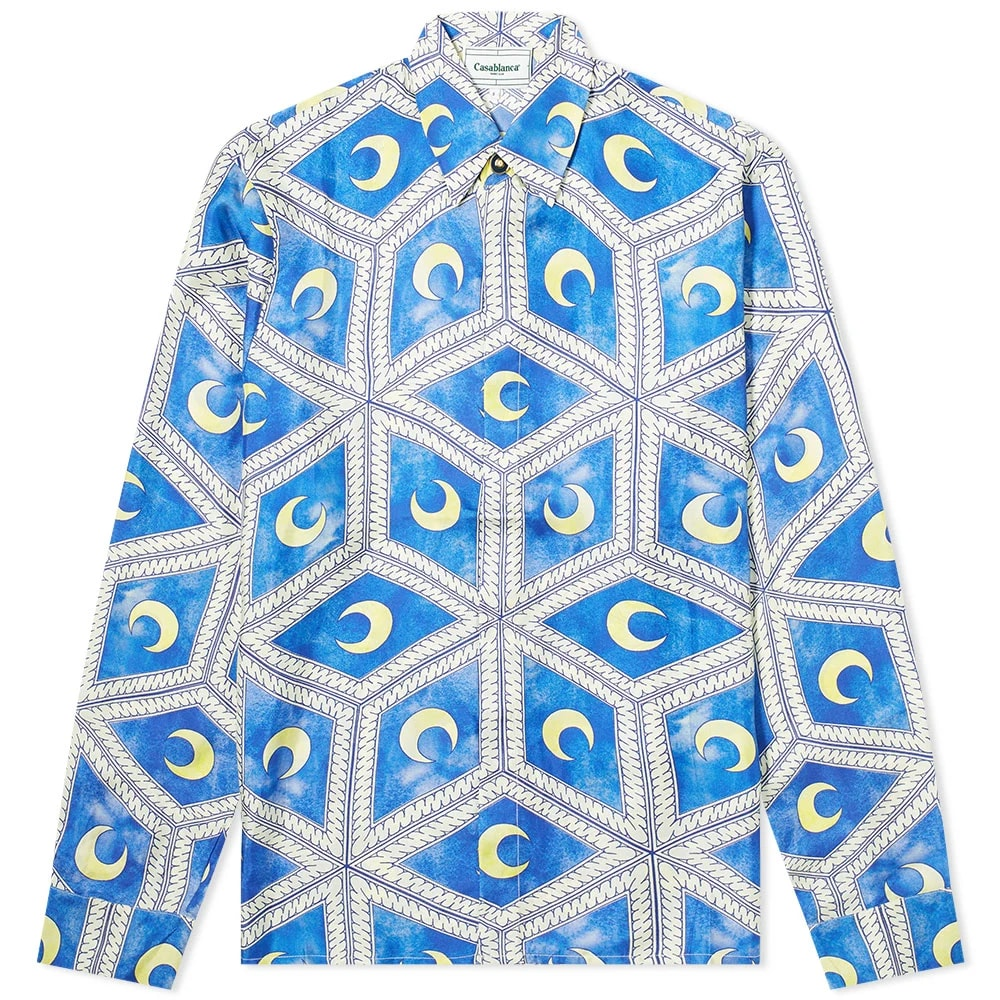 Casablanca Moonlight Tiles Silk Shirt