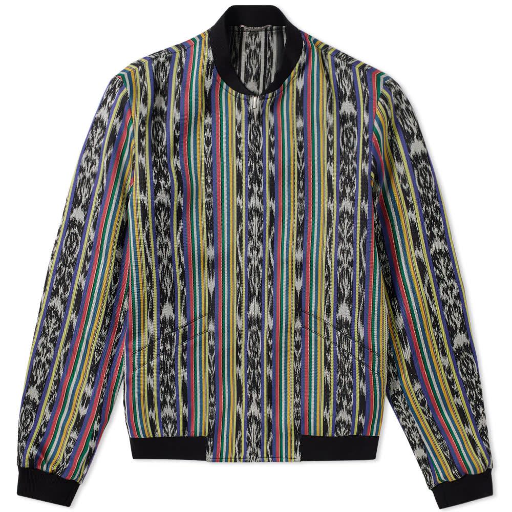 Ikat Pattern Teddy Jacket